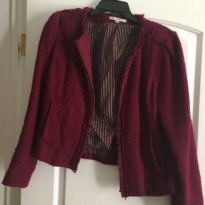 Wine wool Zip up CAbi Jacket style 530